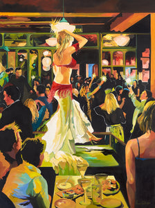 The Party by Julie Eisen-Lester, Oil on Canvas