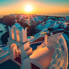 The Sun of Santorini by Docle Le, Aluminum Photo Metallic Print