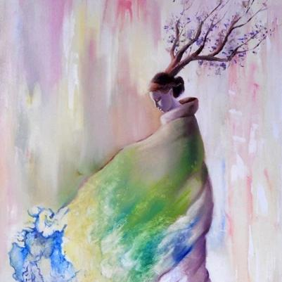 The Bloom by Paola Diaz Silva, Oil on Canvas