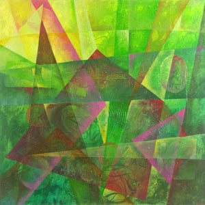 Time Window- Green Power by Ewa Martens, Acrylic on Canvas