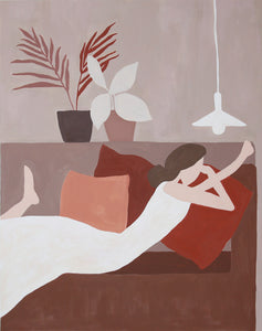Time on a Couch by Eunbin Jung, Acrylic on Canvas