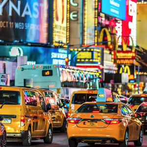 Time Square Madness by John Mazlish, Photo Printed on Dye Sublimated Aluminum