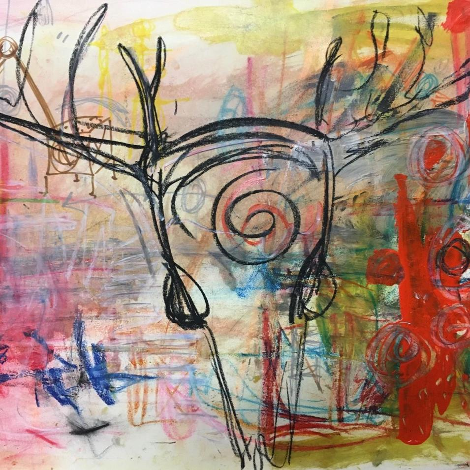 Transmission 2 by Sarah Fox Wangler, Mixed Media on Paper