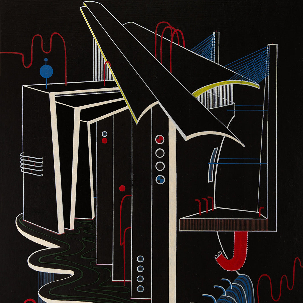 Utopia 001 by Einar Sandvold, Acrylic on Canvas