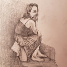 Waiting for Someone by Alejandro Mirelman, Graphite on Paper