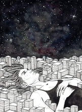 The City Never Sleeps by Zyra Bañez, Watercolor, Pencil, and Ink