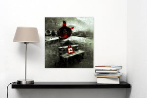 The Queen and the Sculpture by Arne Søvik Larsen, Photography Print on Canvas