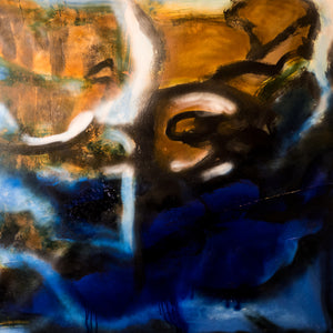 "Bliss 48""X48"" mixed media on canvas by Shane Townley"