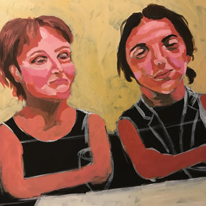 Bored Ladies by Amanda Georgescu, Acrylic on Canvas