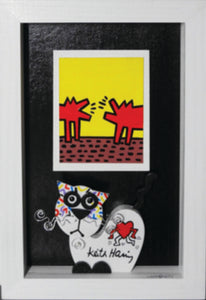 """Keith Haring by UniCAT"" By Domenico Gonzi, Acrylic"