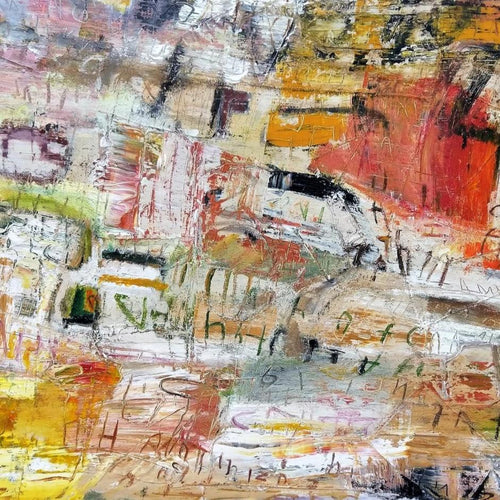 Chain Reaction by Ralph Turturro, Mixed Media on Canvas