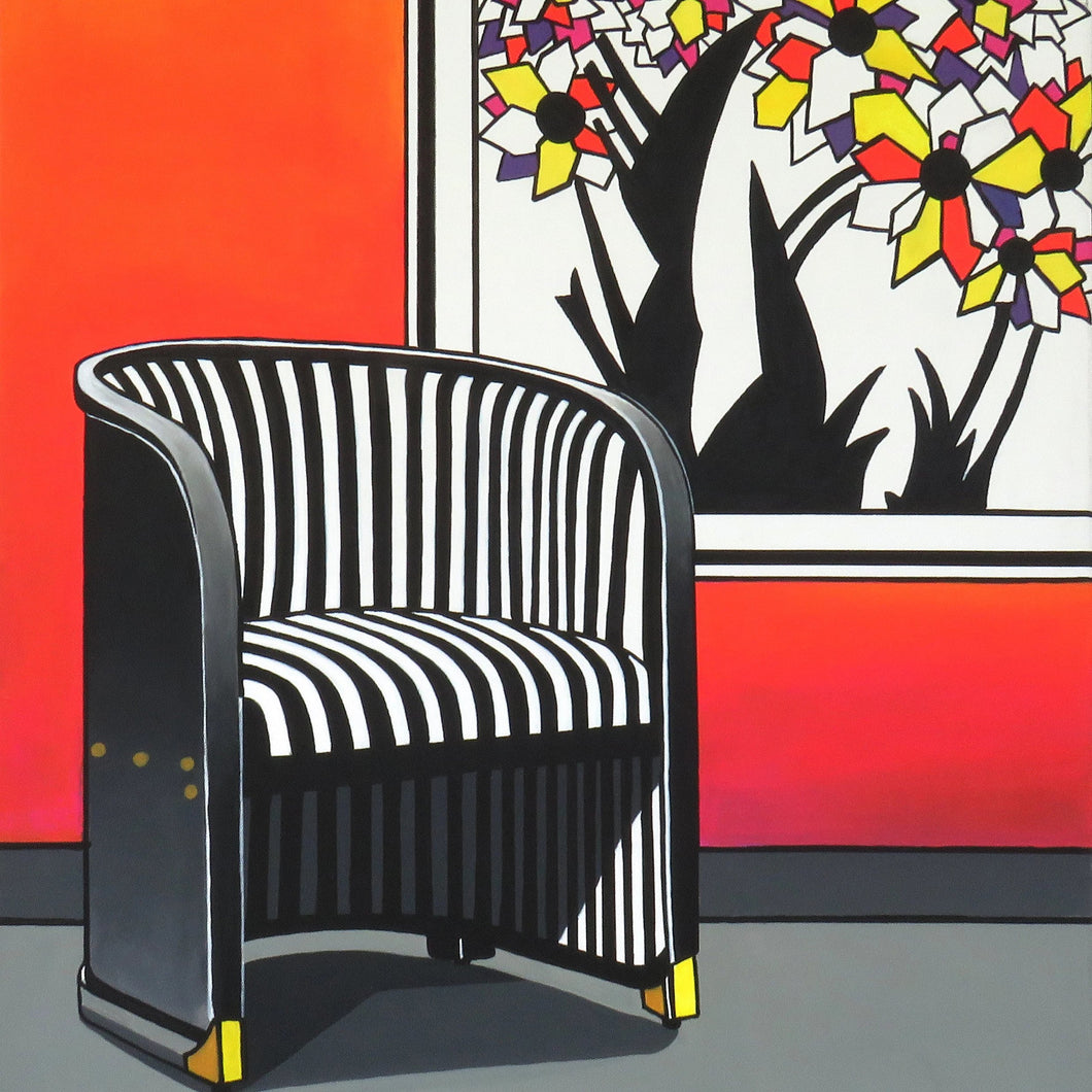 The Hoffman Chair by Brigitte Thonhauser-Merk, Acrylic on Canvas
