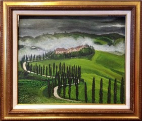 """Tuscan Hills"" By Dhimitra Chano, Acrylic on Canvas"