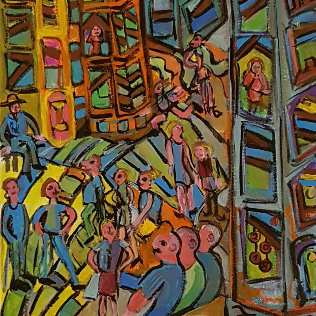 City Walk By Michèle Bagni, Acrylic On Canvas