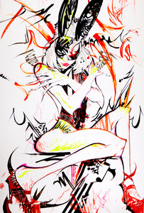 Cuerpo Mia by Dezi, Mixed Media on Paper