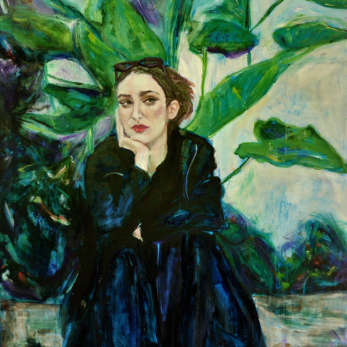 In the Greenhouse by Cristina Barr, Oil on Canvas