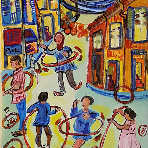 Hula Hoop By Michèle Bagni, Acrylic On Canvas