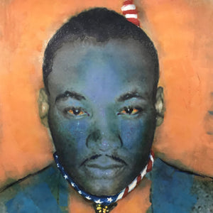 MLK by Danny Greene, Mixed Media on Canvas