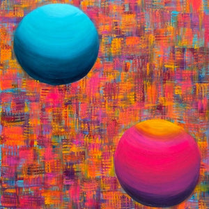 Gaia Matrix-Spheres by Jennifer Wallens Terry, Acrylic on Canvas