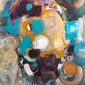 """Roundabout"" by Mary Zio, Acrylic on Canvas"