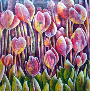 Empyreal Blooms by Sinéad Vaughan-Tompson, Acrylic on Canvas