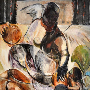 Motherhood by Fahimeh Sorkhabi, Acrylic on Canvas