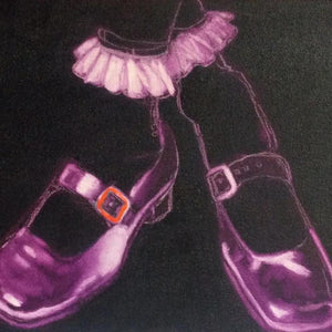 Cross Shoes by Julie Martinez, Oil on Canvas