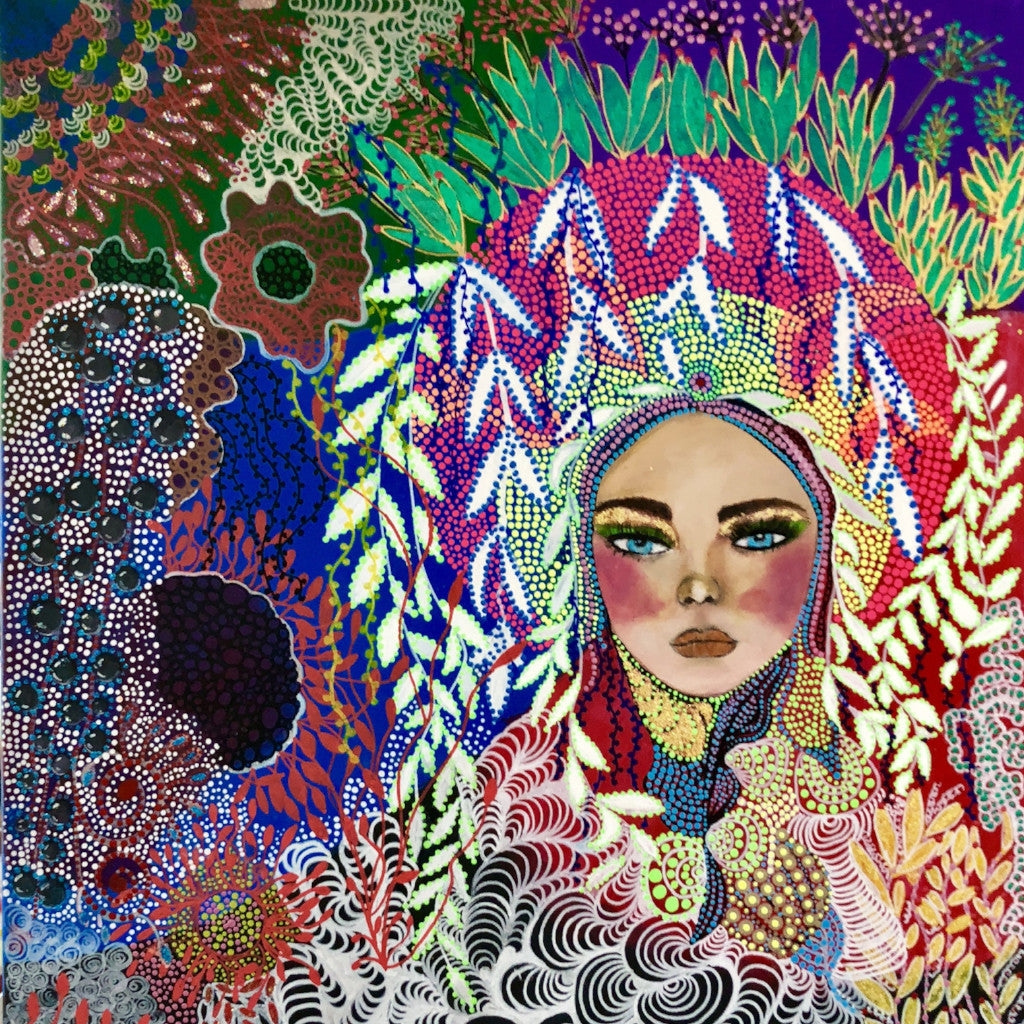 Nature n Beauty by Veronica Wong, Mixed Media on Canvas