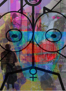 Seven People by Jennifer L Gray & Phillip Johnson, Mixed Media on Canvas