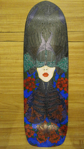 """The Crow Queen"" by Rafael Colon, Hardwood Maple Skateboard"