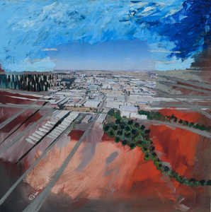 Campo y Ciudad 4 (Land and City 4) by Elisa Bernal, Mixed Media on MDF Board
