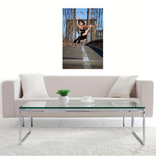 A Leaping Look Over The Shoulder On The Brooklyn Bridge by Kevin Richardson, Archival Pigment Print