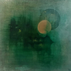 Twin Moons by Lisa Izquierdo, Mixed Media on Canvas