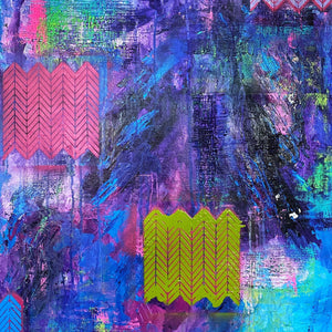"""Let Me Reintroduce Myself"" by Loretta Oberheim, Mixed Media on Wrapped Canvas"