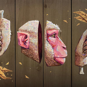 Monkey by Andrés Moncayo, Acrylic on Wood