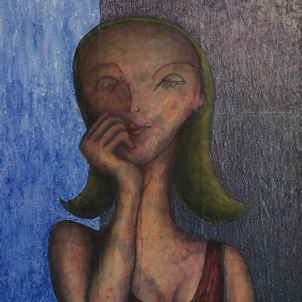 Patricia by Arturo Reyes Medina, Mixed Media on Canvas with LED Light Display