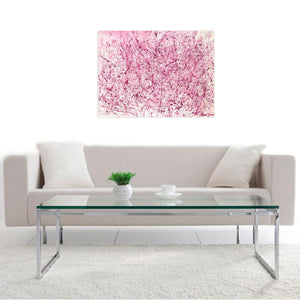 Splash of Pink by Pearl Bayne, Mixed Media on Canvas