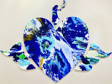 Love Dove by Perry Milou, Acrylic Pour on Wood/Resin