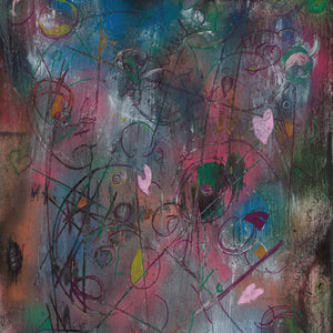 Playing for Keeps by Annika Cox, Mixed Media on Canvas