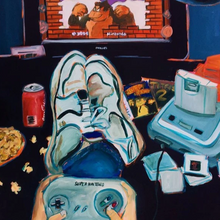 Video Games by Laura Hanson, Acrylic on Canvas