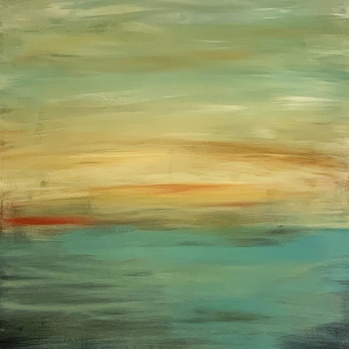 The River by Sara Ann Rutherford, Acrylic on Canvas