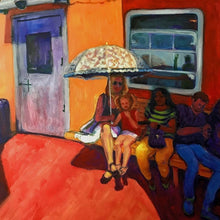 Traveling on the Staten Island Ferry by Susan List, Oil on Canvas