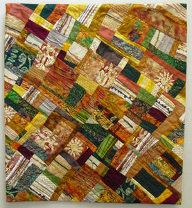 """Sunlit Boulders"" by Ann Baldwin May, Fiber Art Quilt"