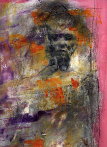 Gina by Cliff Warner, Acrylic and Charcoal on Canvas