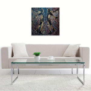 Two by Denezhkina Ekaterina, Mixed Media on Canvas
