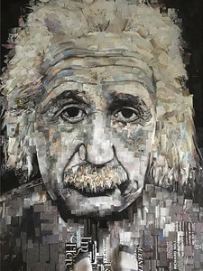 Albert by Whitney Anderson, Hand-Cutout Collage