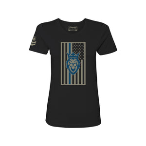 Thin Blue Line Lady's Tee