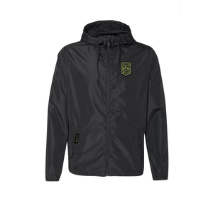 Daybreak Windbreaker Black Full Zip