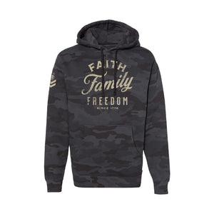 F3 Black Camo Mid Weight Hoodie