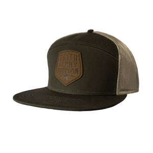 F3 Foundation 7 Panel Hat OD/Tan